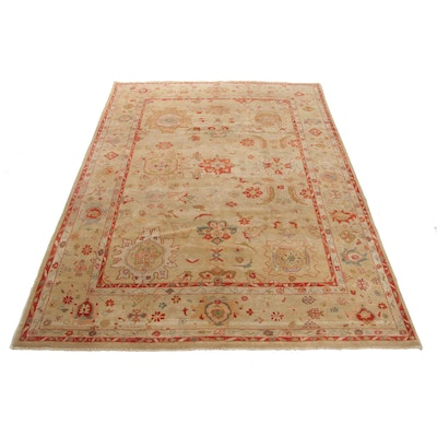 8'7 x 11'10 Hand-Knotted Afghani Persian Tabriz Room Sized Wool Rug