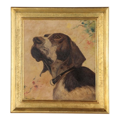 Allye Hutter Dog Portrait Oil Painting, 1943