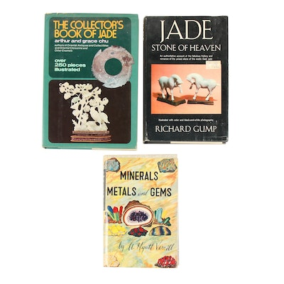 "First Edition ""Minerals, Metals and Gems"" with Additional Books on Jade"