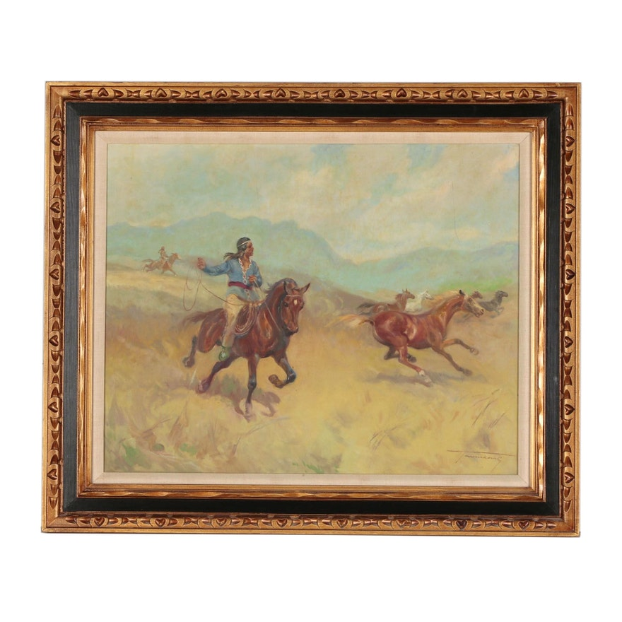 Late 20th Century Western Oil Painting