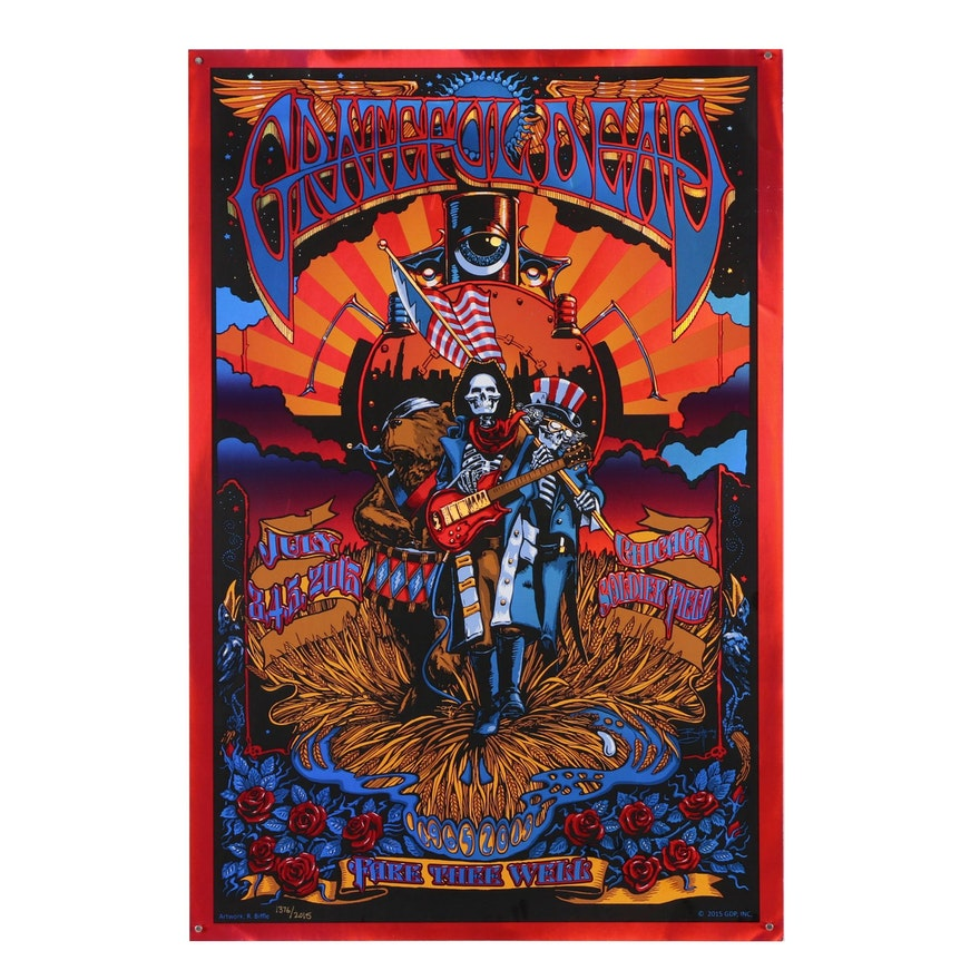 "Richard Biffle Serigraph Poster ""Grateful Dead, Fare Thee Well"", 2015"