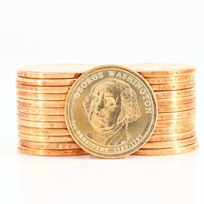 Roll of Twenty-Five 2007-P Uncirculated Washington Presidential Dollars