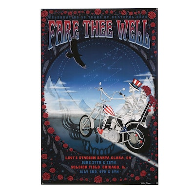 """Grateful Dead Poster """"Fare Thee Well"""", 2015"""