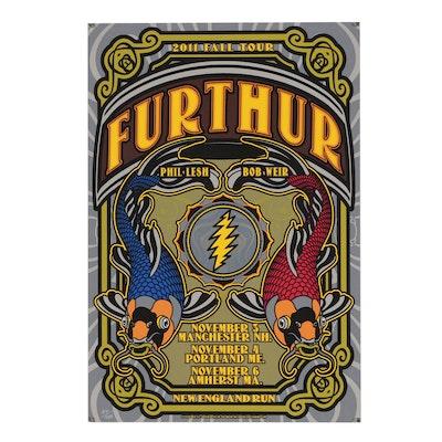 Jeff Miller Serigraph Poster for Furthur 2011 Fall Tour