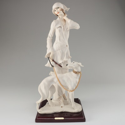 "Giuseppe Armani Resin Figurine ""Lady with Dog"", 1992"