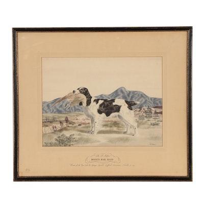 "Watercolor Painting ""Ella B. Moffit's Bozo's Bar Mate"""