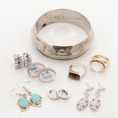 Rock Quartz Crystal Jewelry Assortment