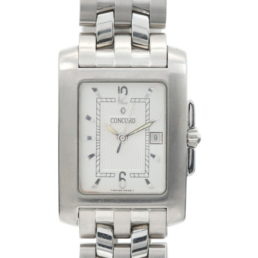 Concord Sportivo Stainless Steel Wristwatch