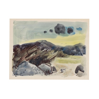 Jack Meanwell Landscape Watercolor Painting