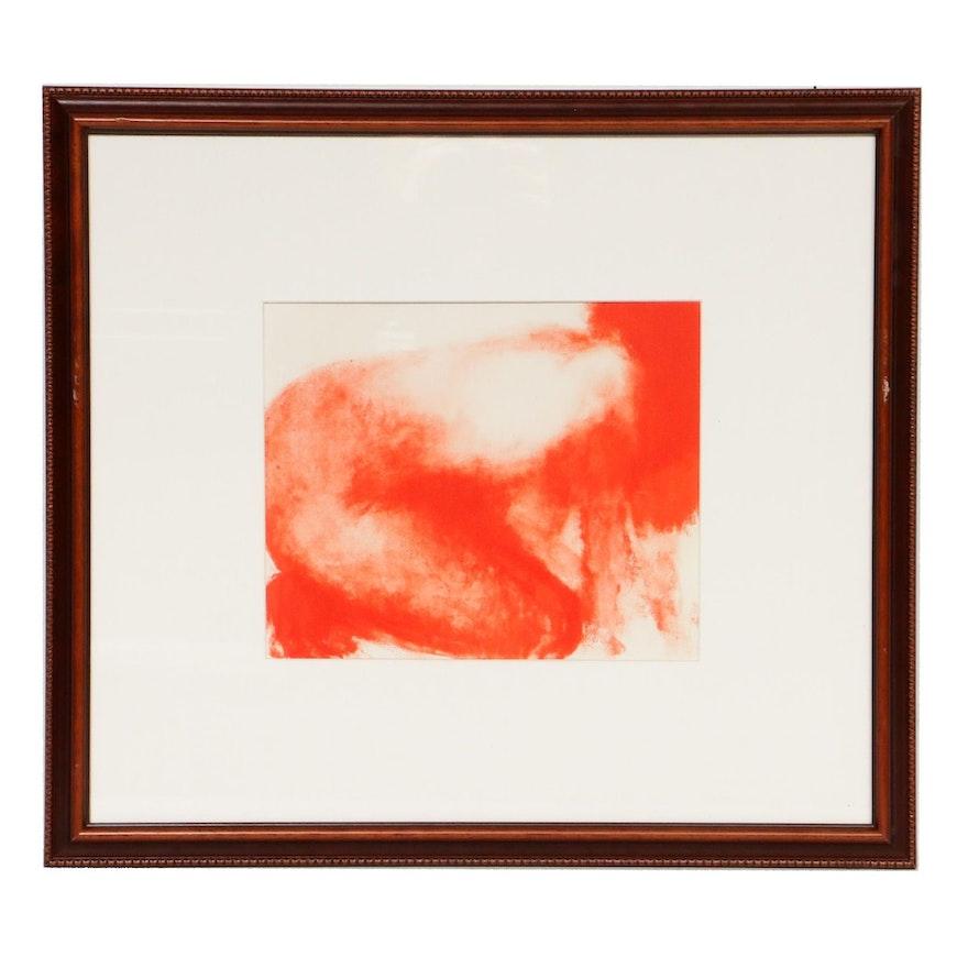 """Claude Garache Female Nude Lithograph for """"Derrière le Miroir"""", 1977"""