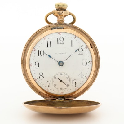 Antique Waltham Gold Filled Pocket Watch With Hunting Case, 1901