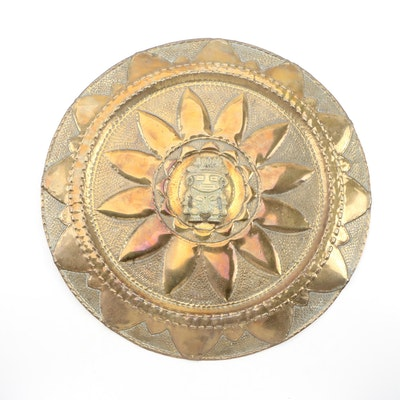 Central American Style Brass Wall Hanging