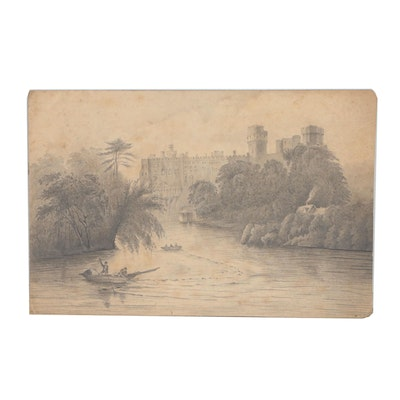 Early 20th Century Landscape Graphite Drawing