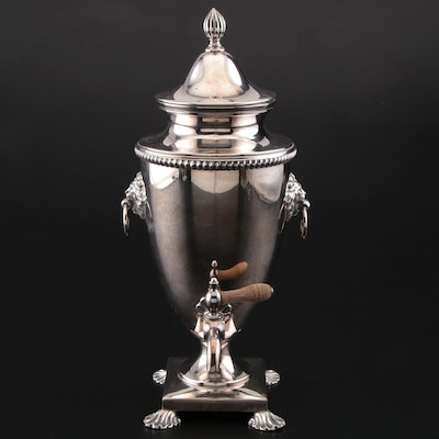 Friedman Sliver Co. Silver Plate Hot Water Urn, Early to Mid 20th Century