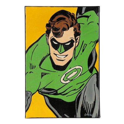 Chris Cargill Acrylic Painting of Green Lantern