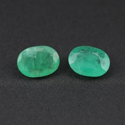 Loose 2.01 CTW Emerald Gemstones