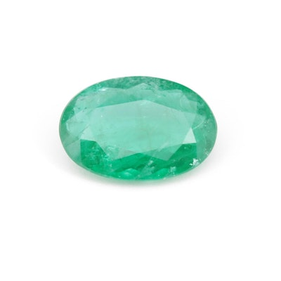 Loose 0.98 CT Synthetic Emerald Gemstone