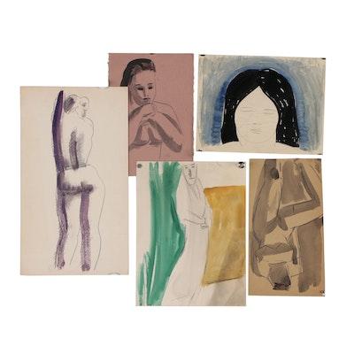 Thomas Eldred Watercolor Figurative Studies