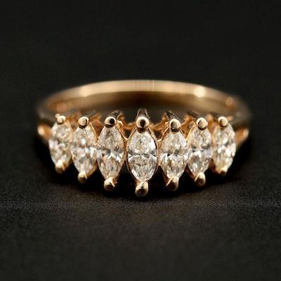 14K Yellow Gold 1.19 CTW Diamond Ring