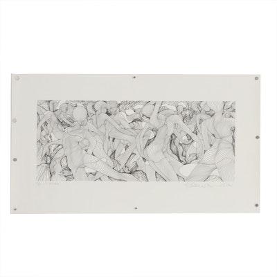 """Guillaume Azoulay Serigraph """"C.E. Escale"""""""