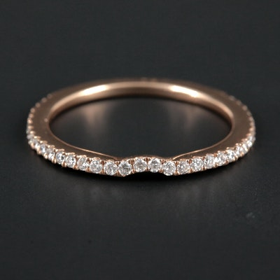 Le Vian 14K Rose Gold Diamond Shadow Band