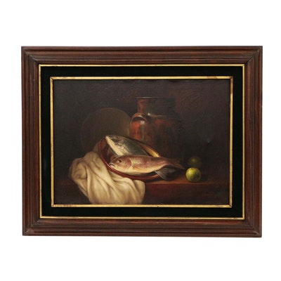 Armando Ahuatzi Still Life Oil Painting, 1977