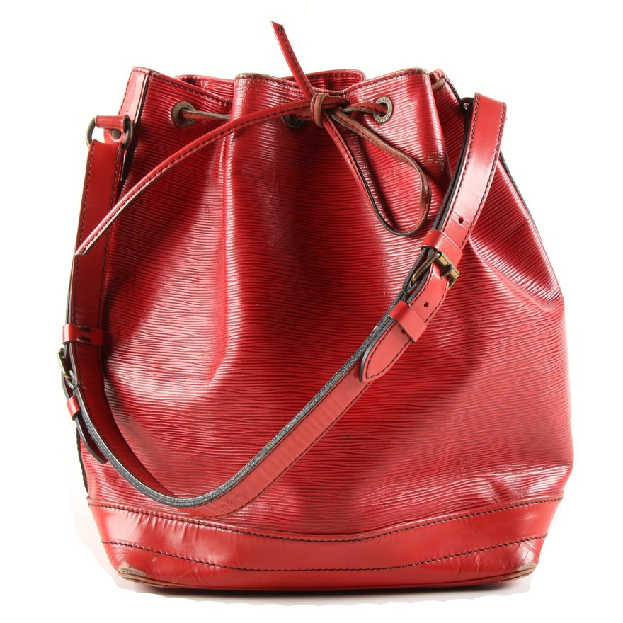Louis Vuitton Noe Shoulder Bag in Red Epi Leather, Vintage