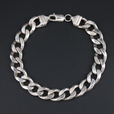 Sterling Silver Curb Chain Link Bracelet