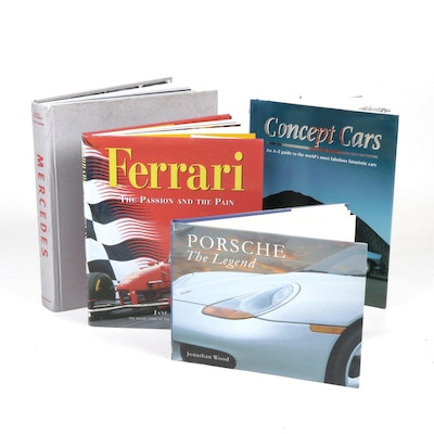 Luxury Car Themed Coffee Table Books