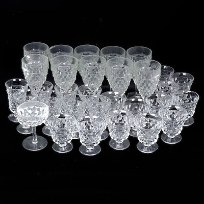 "Fostoria ""American Clear"" and Other Pressed Glass Stemware"