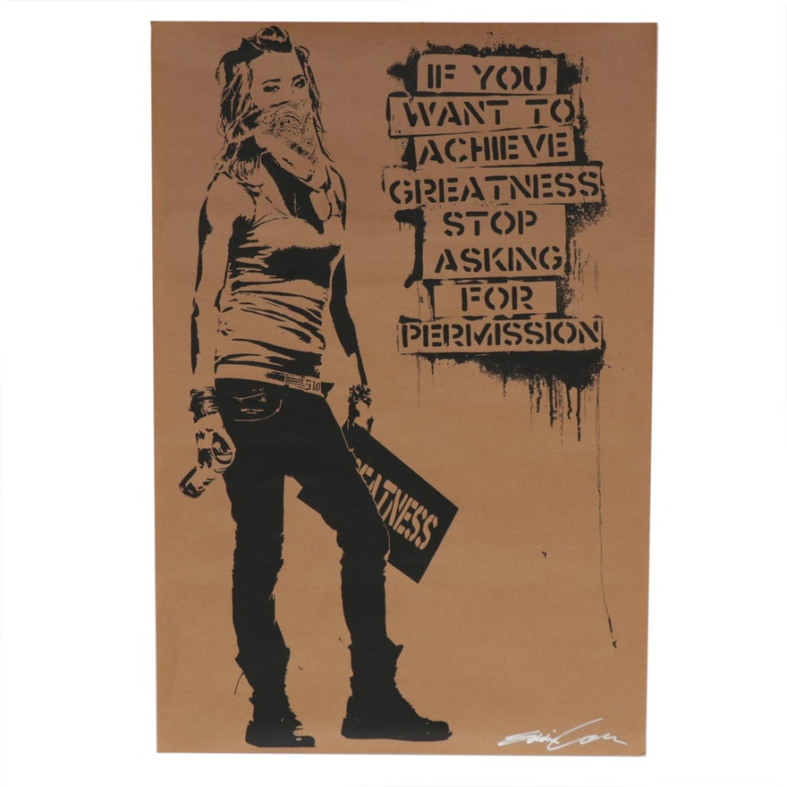 "Eddie Colla Lithograph ""Ambition"""