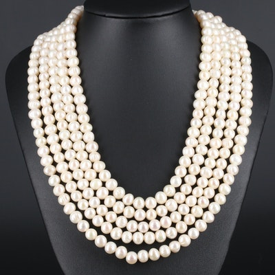 Cultured Pearl Endless Strand Necklace