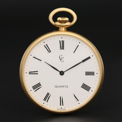 Concord 18K Yellow Gold Quartz Pocket Watch