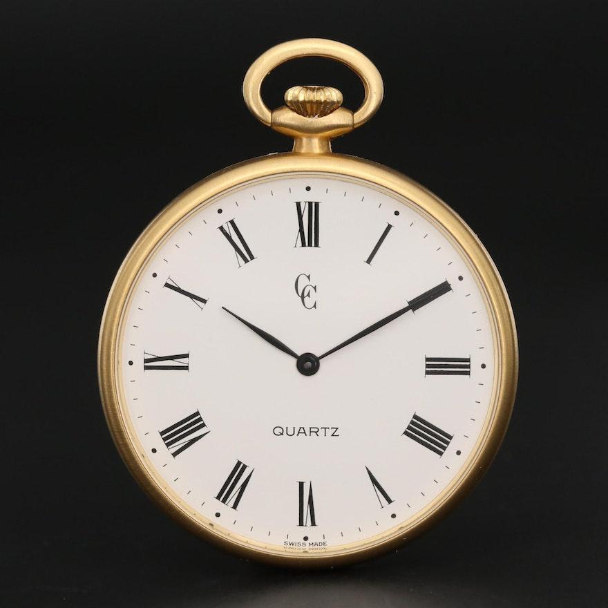 Concord 18K Yellow Gold Quartz Pocket Watch