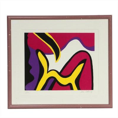 "William Scharf Serigraph ""Banana Dog"", Late 20th Century"
