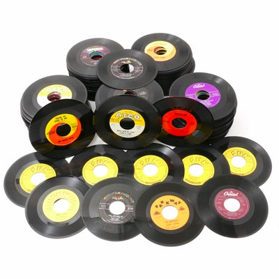 Johnny Cash, Bob Dylan, Bob Seger, Ray Charles and Other 45 RPM Records