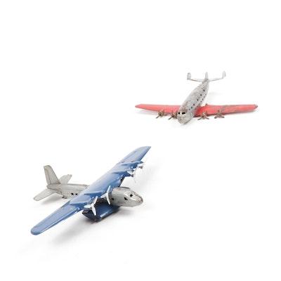 Wyandotte Toys Metal Toy Airplanes, Vintage