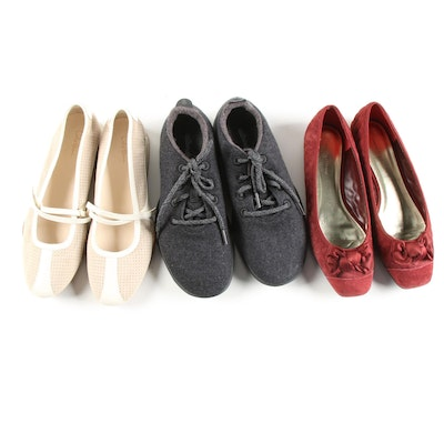 Cole Haan Loafers, Banana Republic Ballet Flats and Allbirds Sneakers