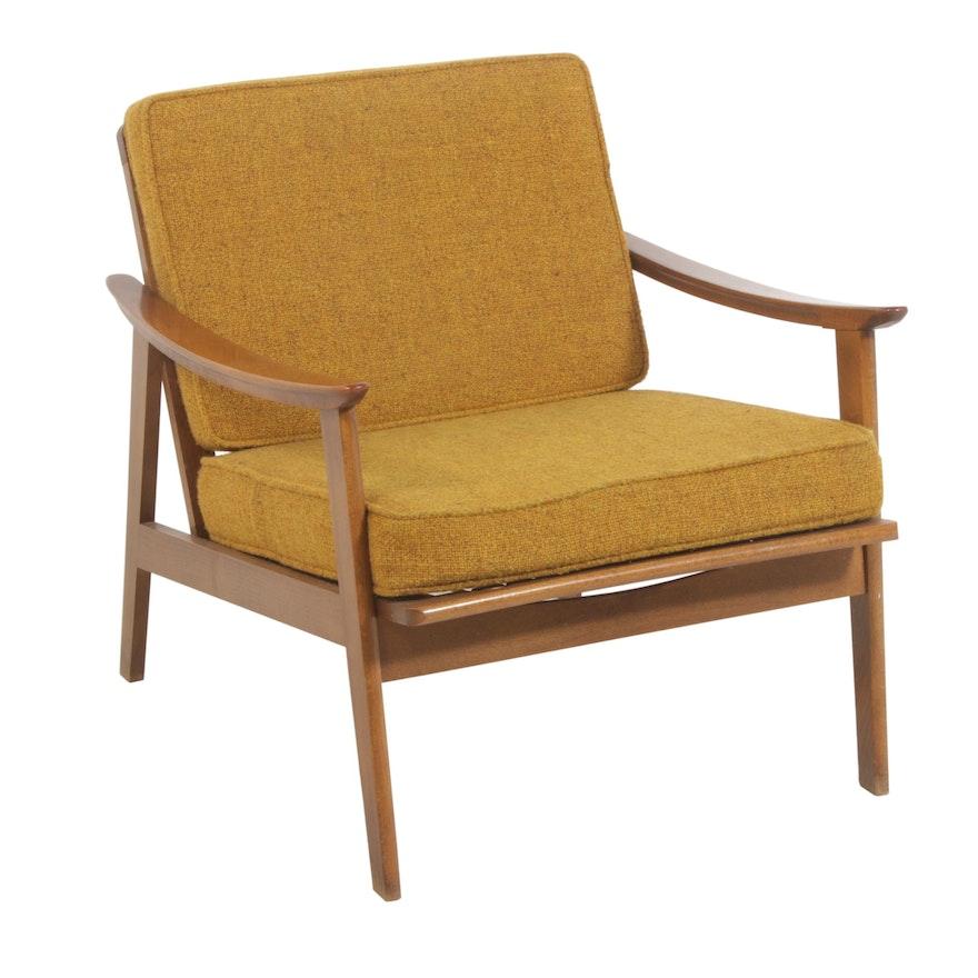 Walnut Lounge Chair, Mid Century Modern