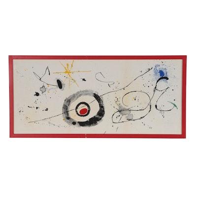 Joan Miró Lithograph from Derrière le Miroir, No. 128