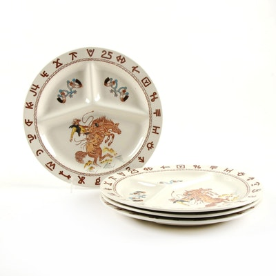 Fred Roberts Style Western Ware Divided Dinner Plates