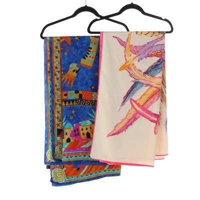 Louis Féraud and Other Silk Pareo Scarves