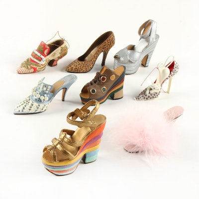 Just the Right Shoe Cast Resin Shoe Figurines and Others