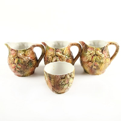 Italian Ceramic Pitchers and Bowl for Neiman Marcus