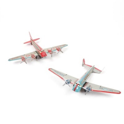 Marx Strato Airlines NC-10 Skycruiser Metal Toy Airplanes, Vintage