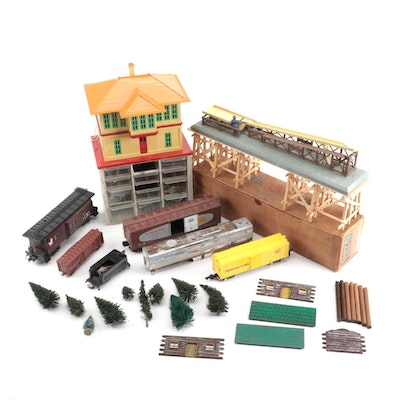 Model Train Cars, Shrubbery, Track Parts and Accessories, Mid-Late 20th Century