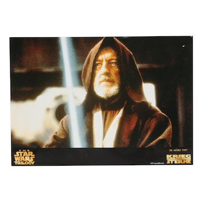 """1997 """"Star Wars Trilogy"""" German Re-Release Offset Lithograph Lobby Card"""