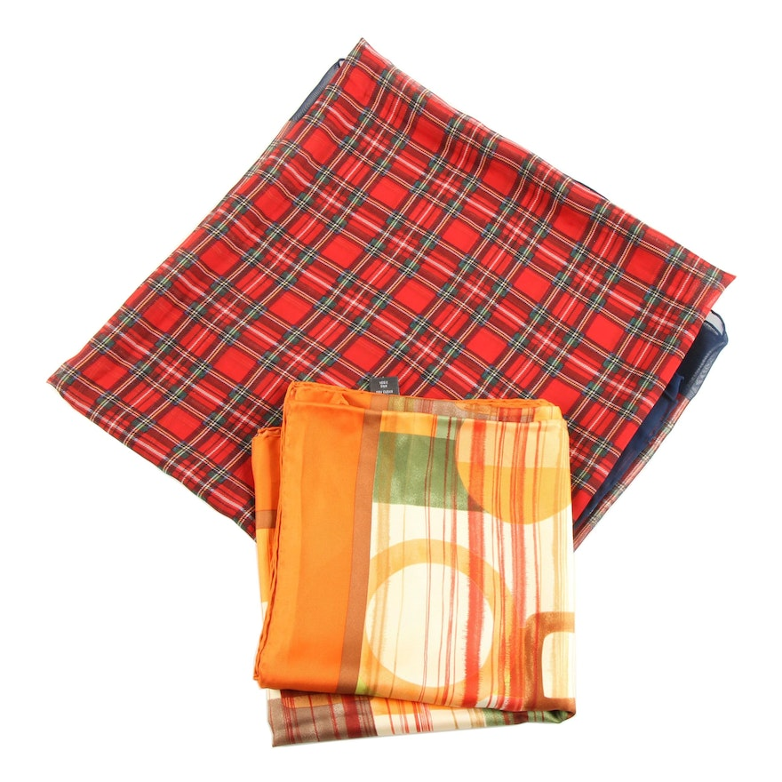 Coach and Tommy Hilfiger Italian Made Silk Scarves