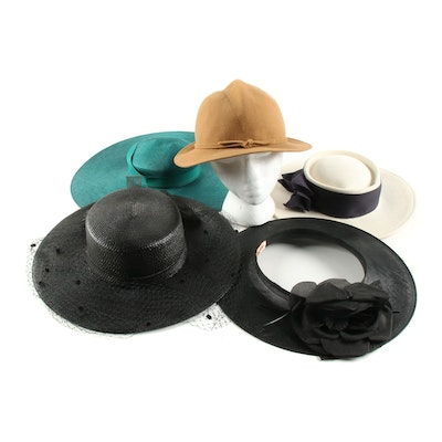 Frank Olive, Makins New York, Carson Underwood and Other Hats, 1990s Vintage