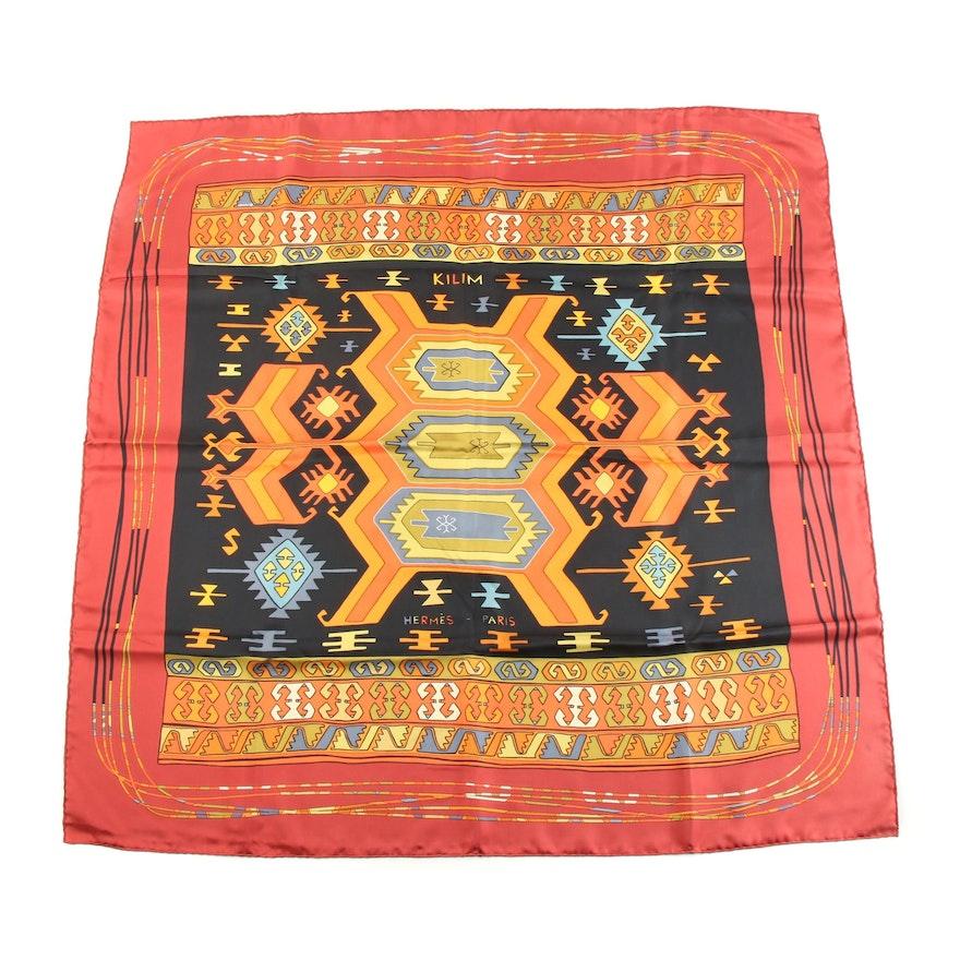 "Hermès ""Kilim"" Silk Twill Scarf Designed by Dimitri Rybaltchenko"